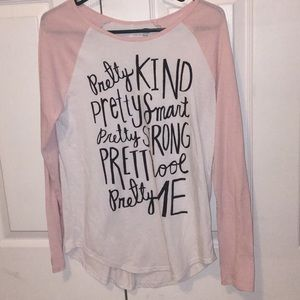 girls long sleeve pretty shirt